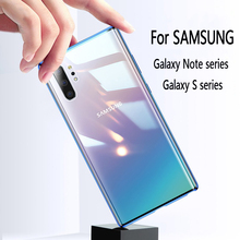 Magnetic Adsorption Metal Case For Samsung Galaxy S20 10 S9 S8 Plus Tempered Glass Back Magnet Cover For Note 10 8 9 PLUS Case