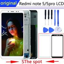 الأصلي بانتيلا شاومي redmi نوت 5 عرض في شاشات الكريستال السائل الهاتف المحمول مع الإطار Redmi نوت 5 برو lcd استبدال إصلاح أجزاء