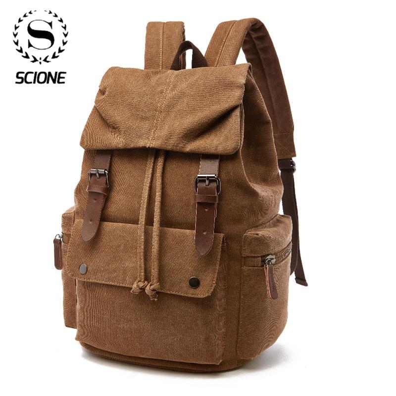Canvas Laptop Backpack For Men Women School  Mochila Feminina  Fashion Anti-Theft Women Travel Backpacks School Backpack
