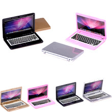 4 Color Mini laptop computer 5.5*4.4*0.2cm doll house scene MINI laptop computer simulation doll accessories for Mini Doll House(China)