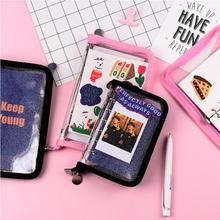 A6 a7 zip saco transparente solto folha binder caderno núcleo interno capa nota livro diário planejador escritório artigos de papelaria suprimentos