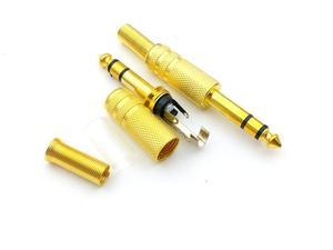 Image 3 - 50PCS זהב 6.35mm (1/4 ב) שקע זכר סטריאו תקע שמע מחבר