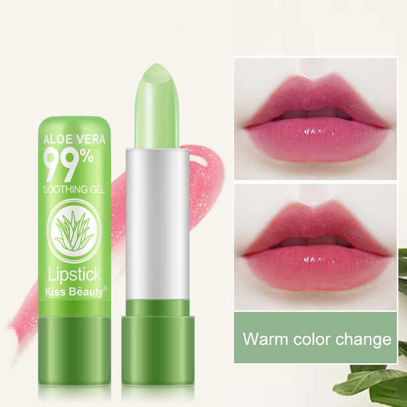 1PC טבעי אלוורה שפתון לחות צבע שפתון שינוי הסרת שפתון שפתיים קווים לאורך זמן לחות שפתונים TSLM2