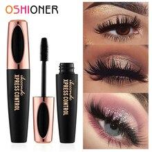 OSHIONER 4D Silk Fiber Eyelashes Lengthening Mascara Waterproof Long Lasting Lash Black Eyelashes Extension Make up 3D Mascara