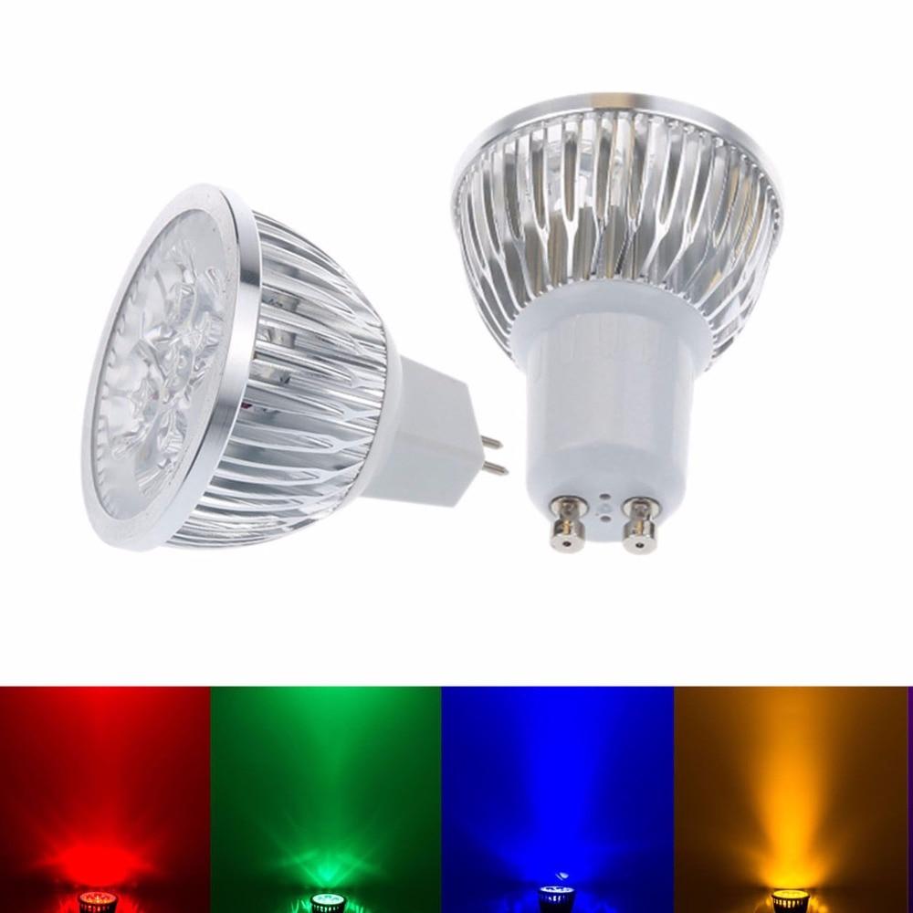 1Pcs/lot GU10 MR16 E27 LED Lamp 220V 110V 12V 9W 12W 15W LED Spotlight Bulb Lamp Red/blue/green/yellow/white Led Ceiling Light