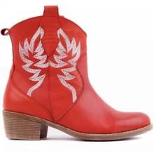 2020 Botas de vaquero de cuero hechas a mano estilo Retro hasta la rodilla con mariposa bordada estilo rústico para mujer