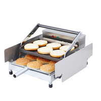 Stainless Steel Double layer Commercial Electric Automatic Hamburger Making Machine Hamburger Maker Baking Machine Equipment|Food Processors| |  -