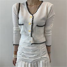 Женский свитер осень 2020 корейский стиль v образный вырез Маленькая