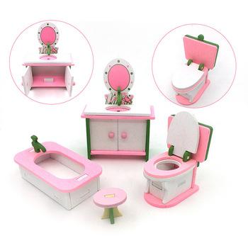 Udawaj zestaw do gry drewniane bloczki meble dla lalek edukacyjne zabawki kuchenne dla dzieci dla dzieci dziewczynki tanie i dobre opinie Drewna CN (pochodzenie) Unisex no eat 1 32 Z0265 13-24 miesięcy 2-4 lat 5-7 lat Meble zabawki zestaw