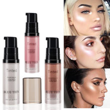 3 farben Flüssigkeit Highlighter Gesichts Bronzer Palette Make-Up Glow Gesicht Körper Kontur Schimmer Basis Illuminator Highlight Kosmetik(China)