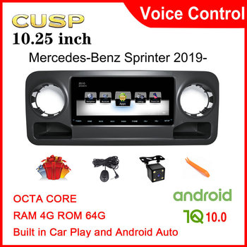 Android 10.0 Car dvd player 10.25 inch for Mercedes-Benz Sprinter 2019 2020 1 Din Car Radio gps stereo Multimedia CarPlay Voice image