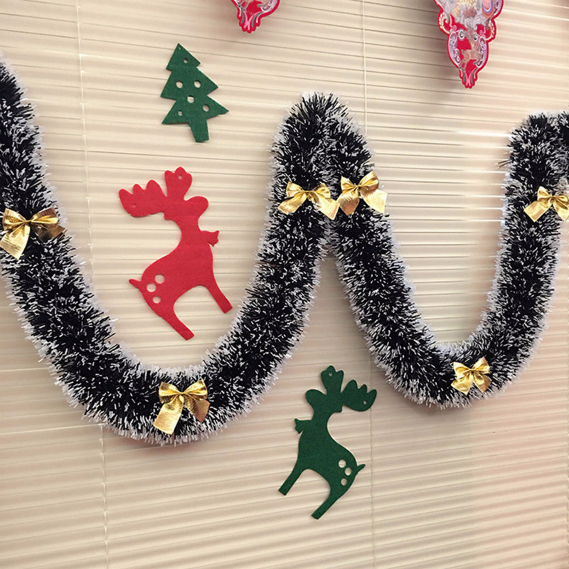 2Pc Christmas Foil Wall Garland Decoration Party Home Ceiling Hanging Xmas Decor