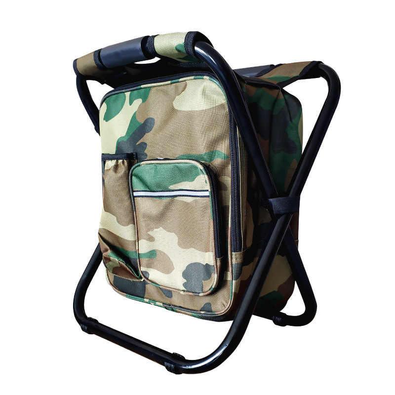 Silla multifuncional gran tamaño mochila pesca,plegable,aislado+mochila
