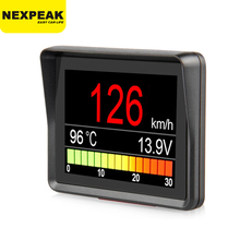 Nexpeak a203 obd2 on board computador carro digital viagem display velocidade consumo de combustível medidor de temperatura obd2 scanner