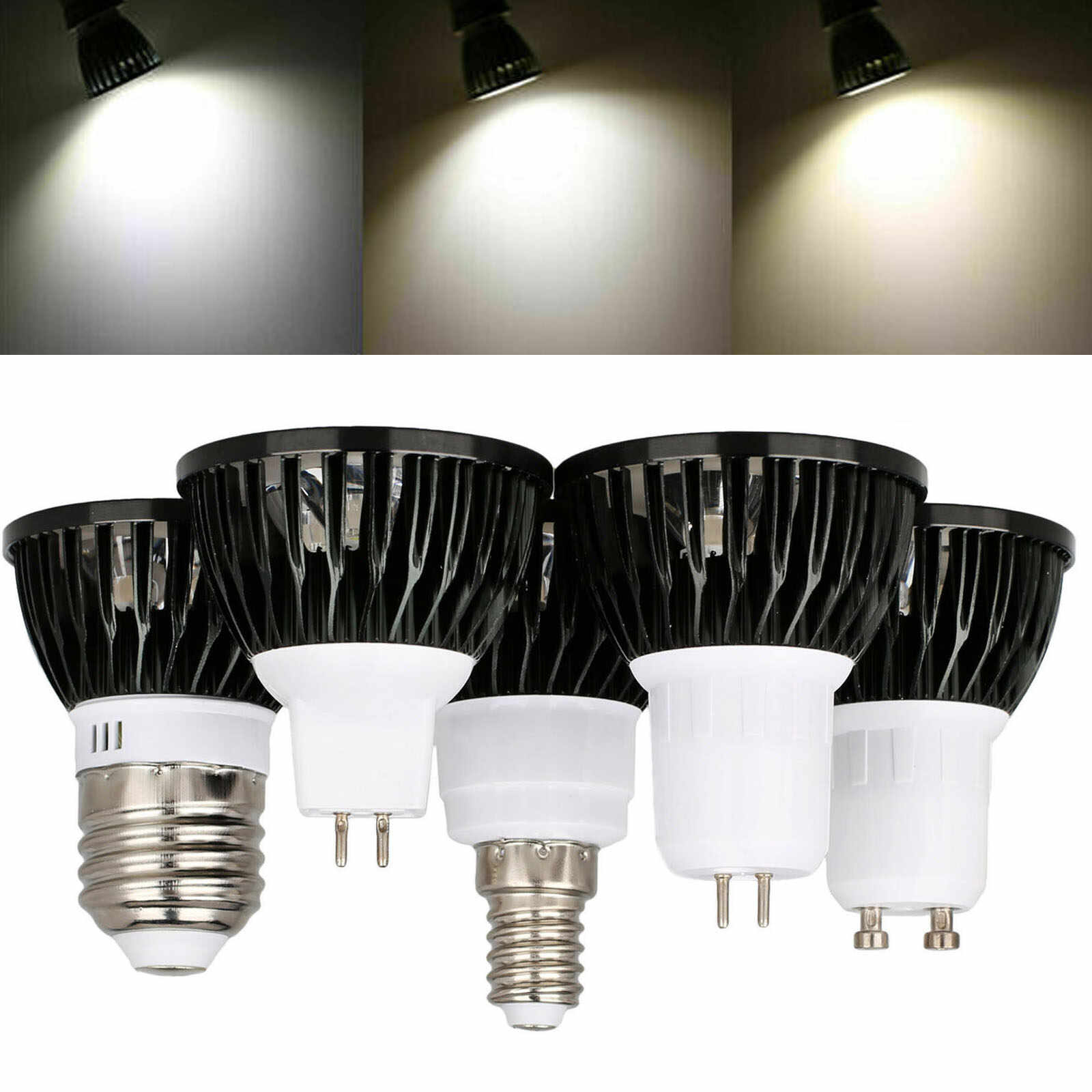 Replacement for gu10 Bulbs 3//5w Warm//Neutral//RGB lights use 230v Lamp