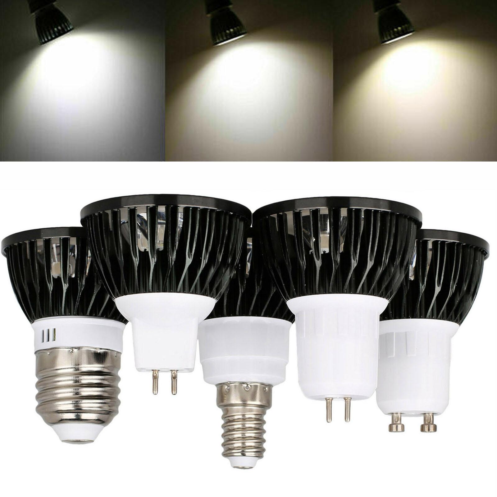 GU10 MR16 GU5.3 LED Spotlight 85-265V 12V Cold Warm Neutral White Lamps 45 Degree 12W 15W High Power Replace Halogen Lighting