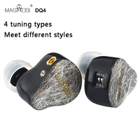 MAGAOSI DQ4 2BA + 2DD Hybrid Earphone In Ear Monitors Professional Noise Cancelling Music Earbuds Mmcx Detachable Cable