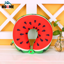 Fruits Watermelon Pineapple Kiwi U Shaped Pillow Cushion Neck Protection Rest Pillow Car Travel Microbeads Pillow For Airplane