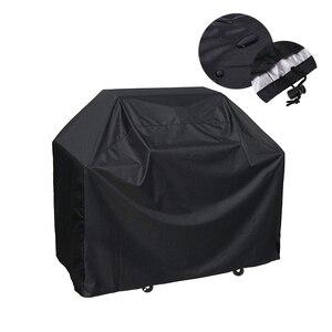 Couverture noire de Barbecue Barbecue | Couverture d'extérieur anti-poussière, protection anti-poussière, Anti-UV, étanche, accessoires de protection pour Barbecue de jardin