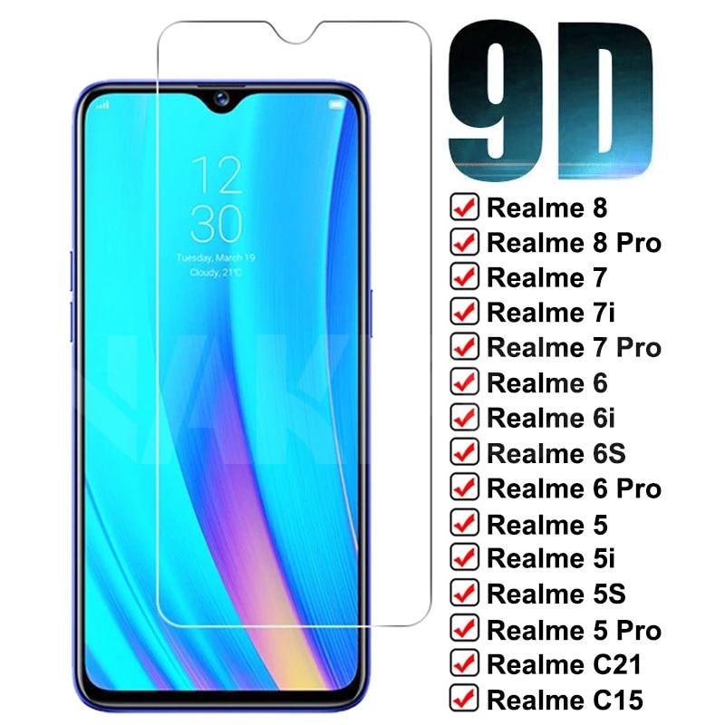9D защитный Стекло высококачественный защитный чехол для OPPO Realme фотокамеры мгновенного действия 8 7 Pro 7i C21 C15 C11 C3 закаленное Стекло Realme 6 5 Pro 6i ...