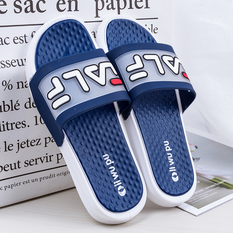 New Summer Unisex Bathroom Slippers Brand Men Couple Beach Sandals Fashion Outdoor Indoor Home Slippers Non-slip Floor Flip Flop