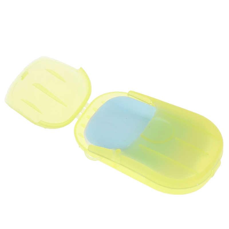 Each 20pcs / box Portable soap paper Disposable soap box Mini soap paper outdoor product