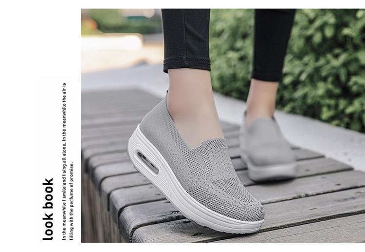 QJ 869-2020 New Spring Autumn Women's Flat Shoes Comfortable Nurse Sneakers-10