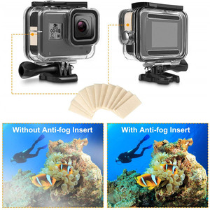 Image 5 - Accessory Kit for Gopro Hero 8 Black Waterproof Housing Case Tempered Glass Screen Protector Filter Kit For Go Pro accessories