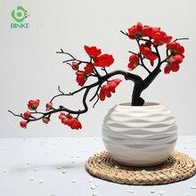Artificial Flower Plum Blossom 1Pcs Non-woven Fabrics Paper Flowers Branch San Valentin Decoration Home Party Decoration