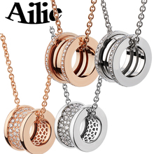 Ailie high quality fit Bulgaria S925 sterling silver necklace fashion luxury jewelry spring spiral shape gifts for ladies couple diana high quality for bulgaria s925 sterling silver necklace rotating round cake shape brand design ladies fashion jewelry