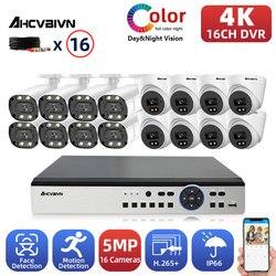 AHCVBIVN 8MP 16 Kanal DVR Video Überwachung System Kit 5MP 8/16PCS Bunte Nacht AHD Kamera CCTV Kamera sicherheit System Set