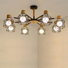 купить Vintage Chandelier Loft Spider Lustre E27 Adjustable Livingroom Lighting For Kitchen Restaurant Chandelier Fixture Lights LED дешево