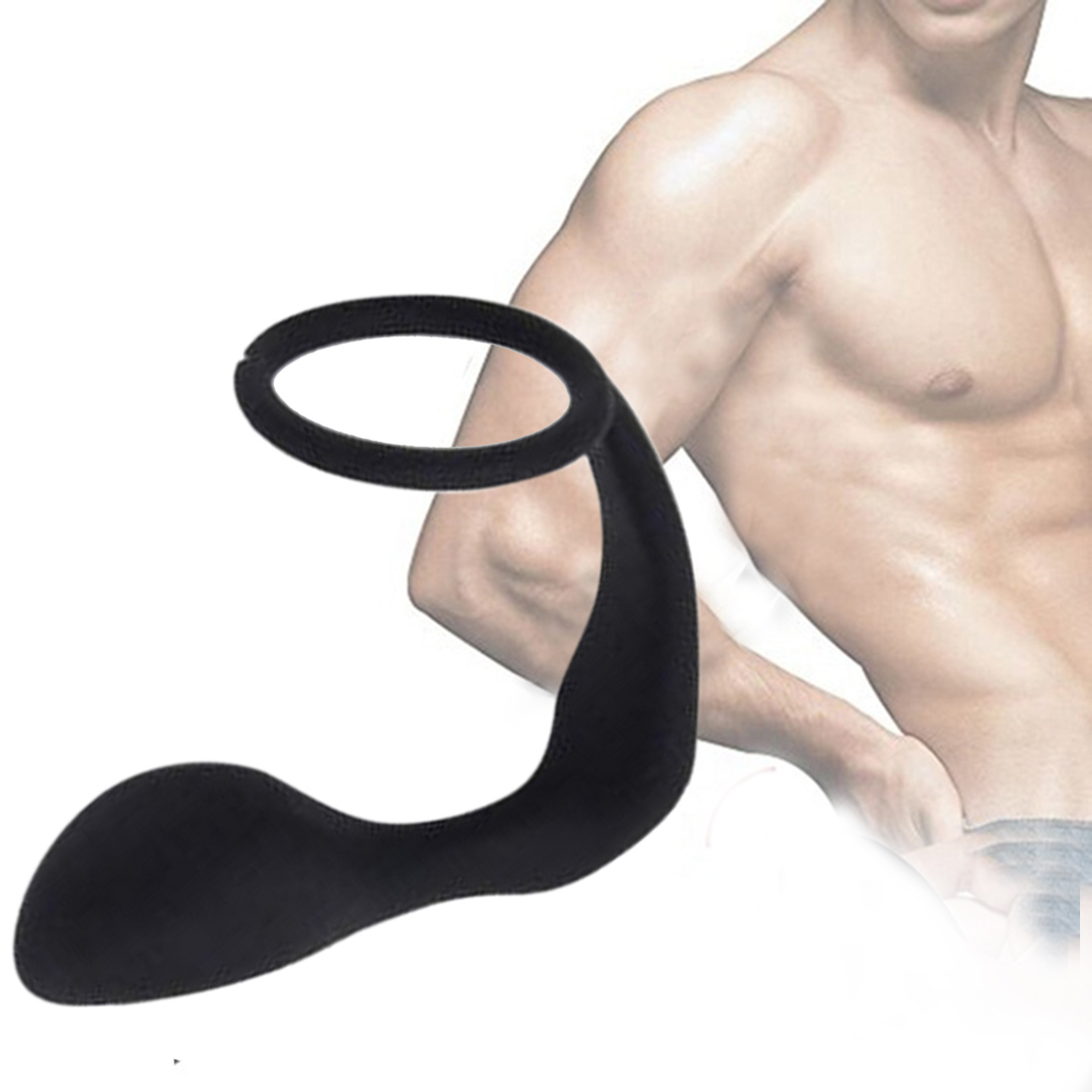 Silicone Anal Plug With Delay Ejaculation <font><b>Penis</b></font> <font><b>Ring</b></font> Prostate Massage Stimulator <font><b>Vibrator</b></font> <font><b>Sex</b></font> <font><b>Toys</b></font> <font><b>For</b></font> Women <font><b>Men</b></font> Masturbator image