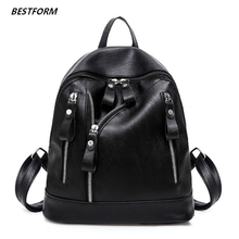 цены Fashion Women Backpack High Quality Youth Leather Backpacks for Teenage Girls Female School Shoulder Bag Bagpack Travel Bags