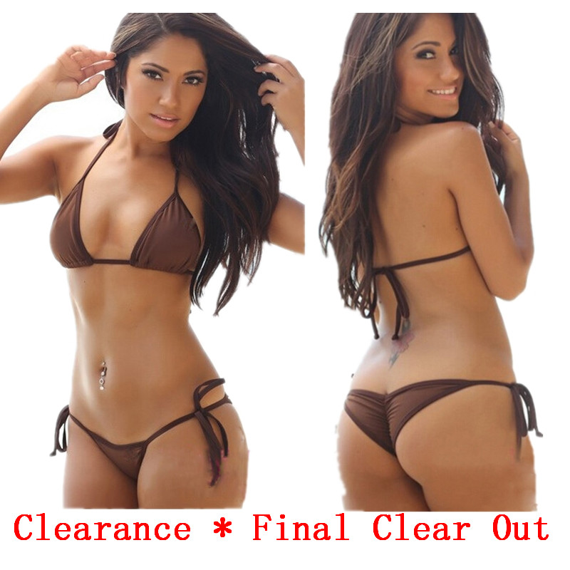 Clearance Sales-- Modern Fit Strap Butt Bottom Scrunch Bandage Bikini Set/swimsuit Micro Mini Brazilian Thong Swimwear Wholesale