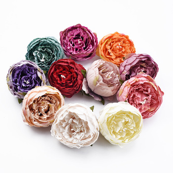2/5 Pieces 8CM silk peony wedding decorative flowers wall stamen artificial flowers christmas decorations for home accessories image