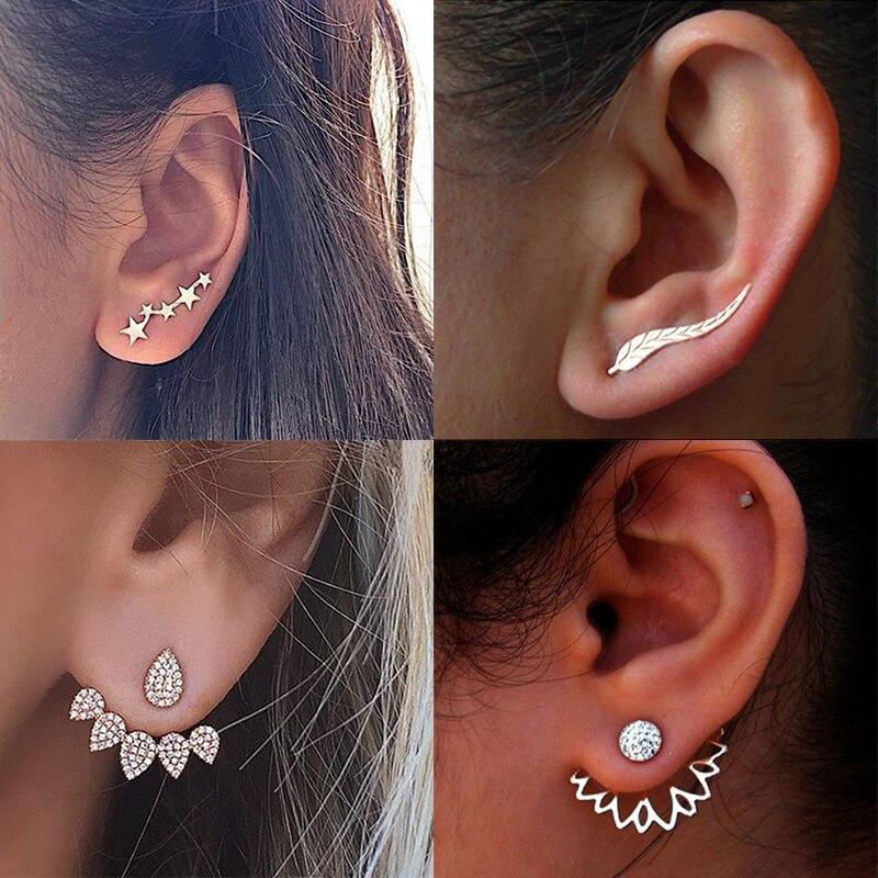 Fashion Women Alloy Crystal Earrings Zircon Ear Stud Charm Statement Jewelry.fr