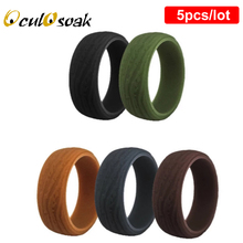Bark Grain Environmental Silicone Ring for Men FDA Antibacterial Wedding Band 8.7mm New Flexible Rubber Sport Rings US Size 7-14 2015 new fda