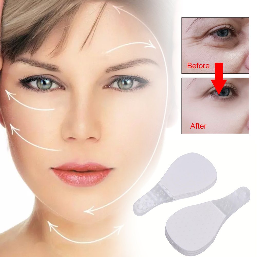 40Pcs / Set Invisible Thin Face Facial Stickers Facial Line Wrinkle Flabby Skin V-Shape Face Lift Tape For Face Fast Chin Adhesi