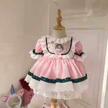 Для маленьких девочек в стиле «лолита» платье Детская испанская платья принцессы с героями мультфильмов и с кружевом милое бальное платье ...