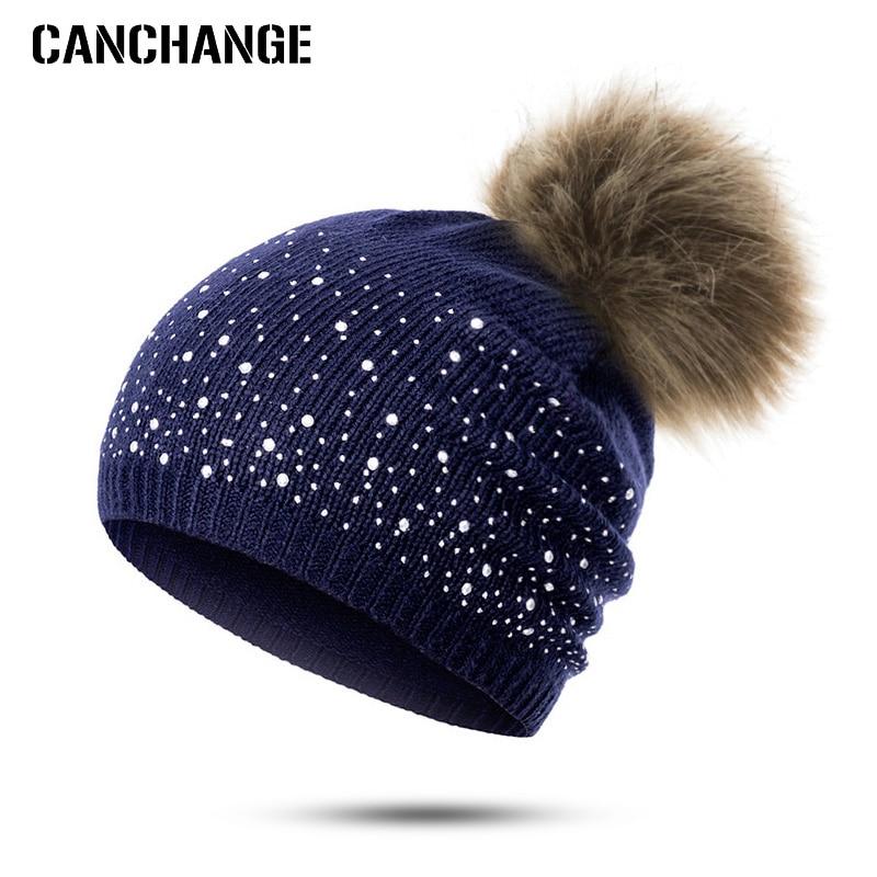 Winter Christmas Style Fur Shower Beanie Hat For Unisex Newborn Baby