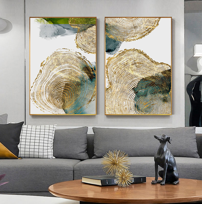 H7a1b6a4666b44104a0d3b44f9e8c60b8H Abstract Golden Leaf Vein Painting Tableaux Big Poster Print HD Wall Art for Living Room Entrance Aisle cuadros Salon decoracion