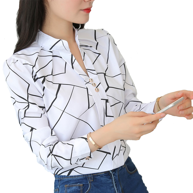 Women Tops And Blouses Office Lady Blouse Slim Shirts Women Blouses Plus Size Tops Casual Shirt Female Blusas 1