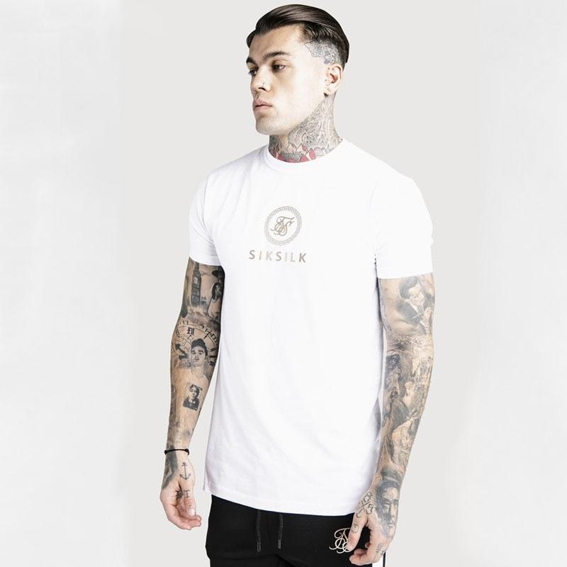 2020 New Fashion Sik Silk Hip Hop T Shirt Men Fashion Streetwearr Man Tee Tshirt Siksilk Male T-Shirts Silk Silk Print Tees Tops