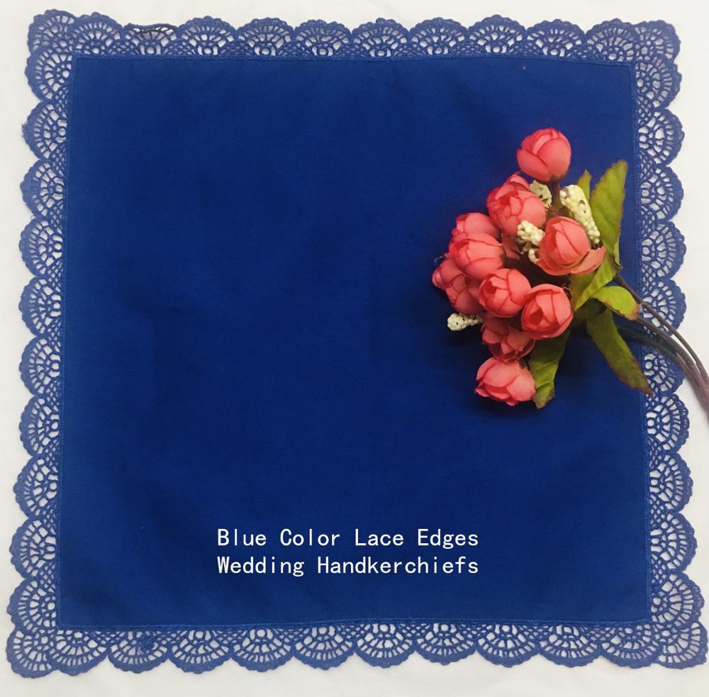 Set Of 12 Fashion Ladies Bridal Handkerchiefs 12x12