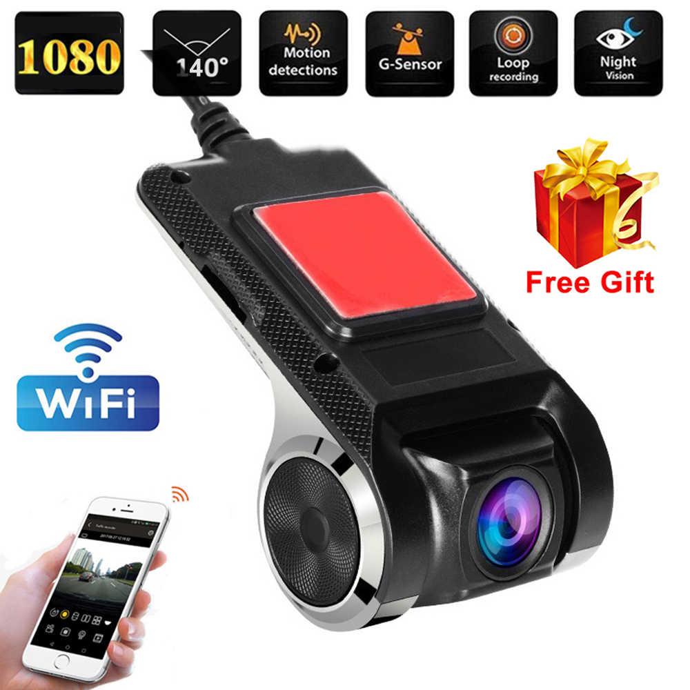 1080P واي فاي داش كاميرا DVR داش سيارة كاميرا واي فاي DVR ADAS داشكام أندرويد DVR مسجل السيارة داش كاميرا ليلة الإصدار 1080P مسجل