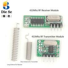 433 Mhz Superheterodyne RF מקלט מודול משדר מודול עם אנטנה עבור Arduino DIY ערכת 433 Mhz שלט רחוק