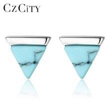 Czcity Настоящее Стерлинговое серебро 925 серьги со шпилькой