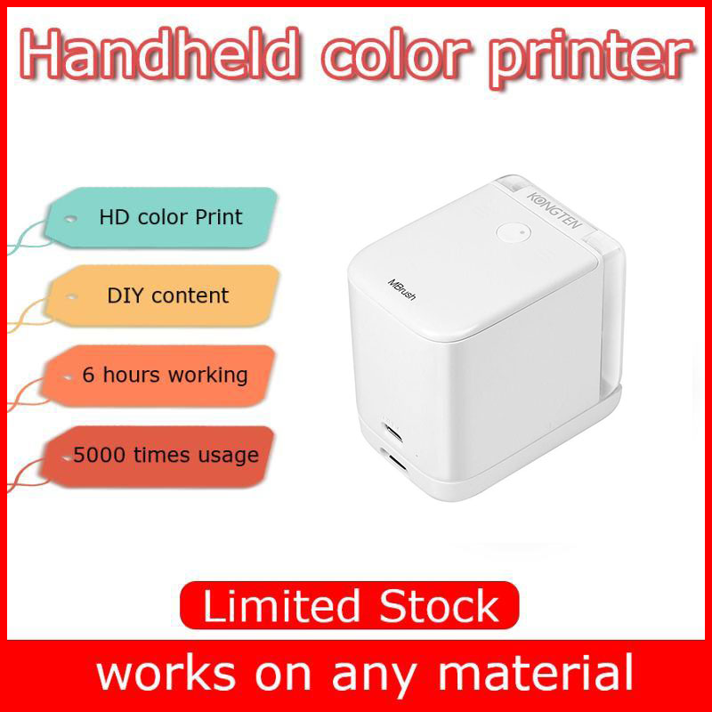 Mobile Inkjet Color Printer Mbrush Batch Coding Barcode Code Date Tatoo Label Logo Mini Portable Handheld Printer With Ink