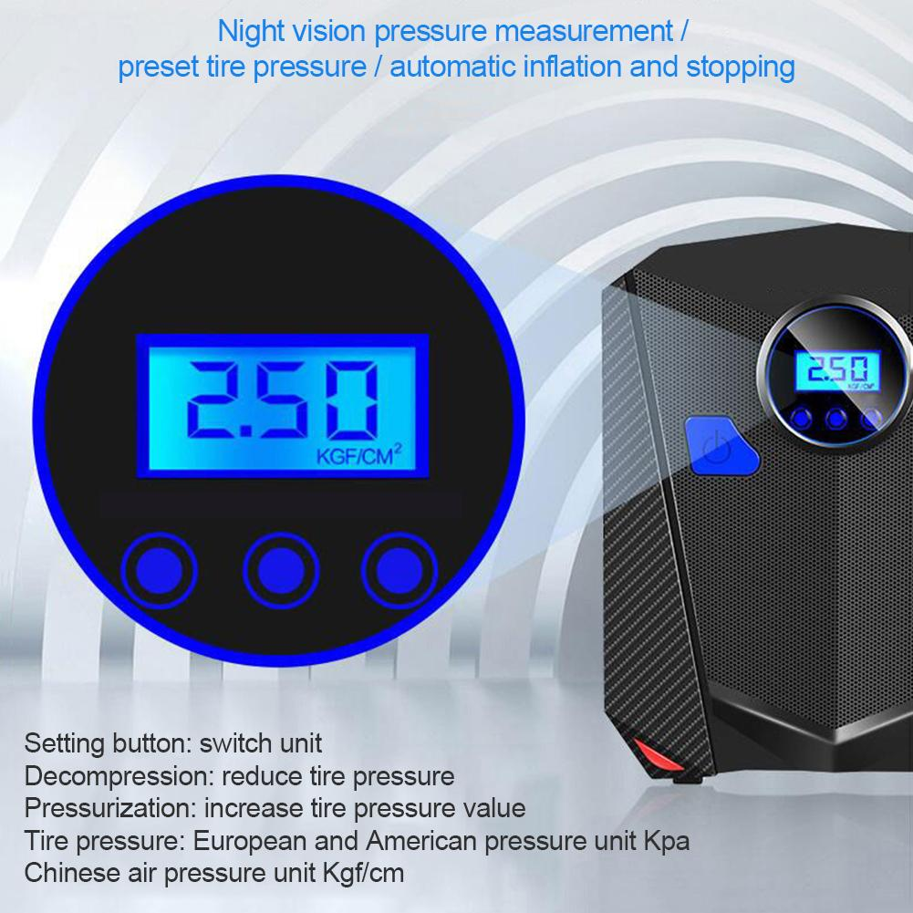 12v portátil compressor de ar digital carro